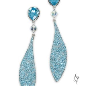 BRITTANY Crystal Drop Earrings in Aquamarine from Stefanie Somers