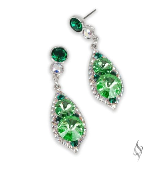 ALI CLAIRE Mint Green Crystal Drop Earrings from Stefanie Somers
