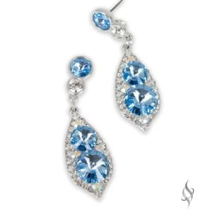 ALI CLAIRE Sky Blue Crystal Drop Earrings from Stefanie Somers