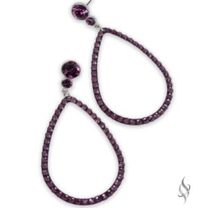 ANITA Amethyst Crystal Sunshine Drop Hoop Earrings from Stefanie Somers