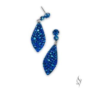 BAILEY Cobalt Shimmer Mini Crystal Pavé Drop Earrings from Stefanie Somers