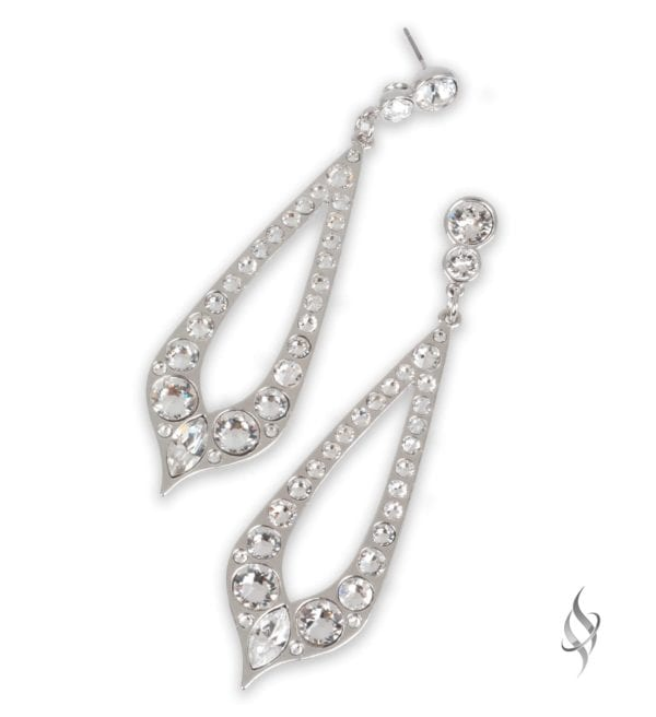 BARBARY Crystal Hoop Earrings from Stefanie Somers