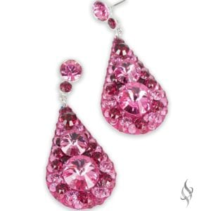 BELLA Cherry Blossom Pink Chunky Crystal Drop Earrings from Stefanie Somers