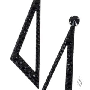 BLADE Jet Black Crystal Swarovski Geometric Statement Earrings from Stefanie Somers
