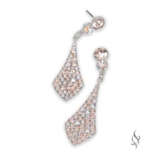 BROOKE Mini Silk Shimmer Crystal Pavé Drop Earrings from Stefanie Somers