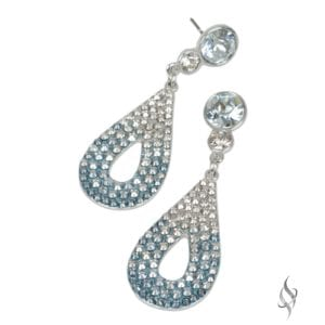 CALLY Mini Ombré Baby Blue Crystal Pavé Drop Earrings from Stefanie Somers