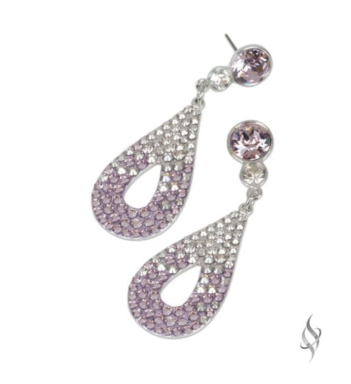 CALLY Mini Ombré Lilac Crystal Pavé Drop Earrings from Stefanie Somers