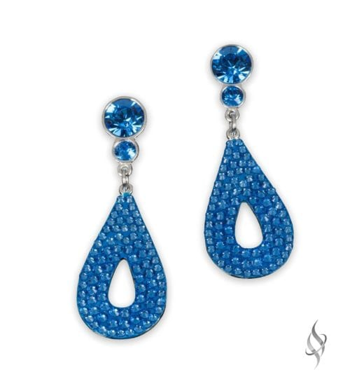 CALLY Mini Sapphire Crystal Pavé Drop Earrings from Stefanie Somers