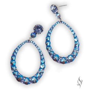 CANDACE Tanzanite Shimmer Crystal Hoop Earrings from Stefanie Somers