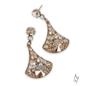 CHEROKEE Nude Crystal Drop Earrings from Stefanie Somers