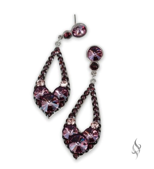 ELISSA Demi Chianti Crystal Drop Hoop Earrings from Stefanie Somers