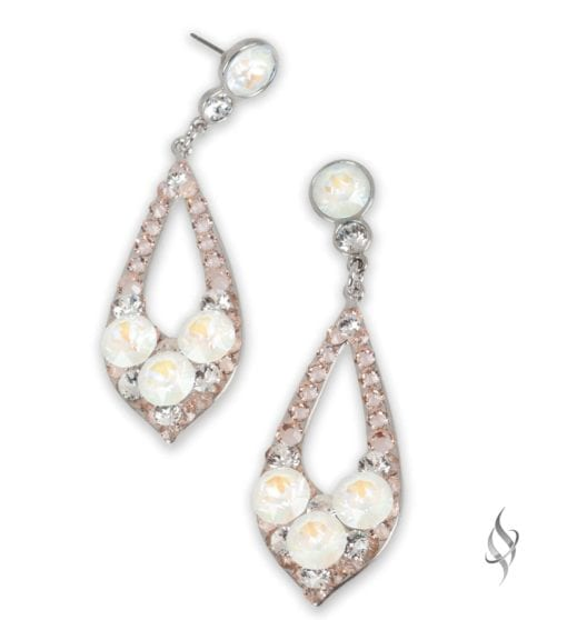 ELISSA Demi Moonstone Crystal Drop Hoop Earrings from Stefanie Somers