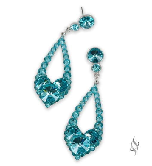 ELISSA Demi Ocean Crystal Drop Hoop Earrings from Stefanie Somers