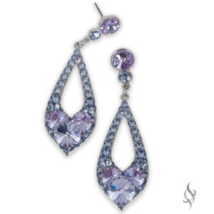 ELISSA Demi Periwinkle Crystal Drop Hoop Earrings from Stefanie Somers