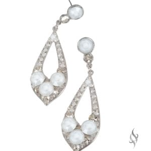 ELISSA Demi Shadow Crystal Drop Hoop Earrings from Stefanie Somers