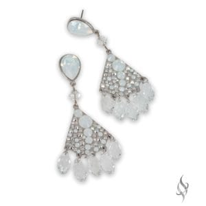 GALVESTON Arctic Crystal Drop Chandelier Earrings from Stefanie Somers