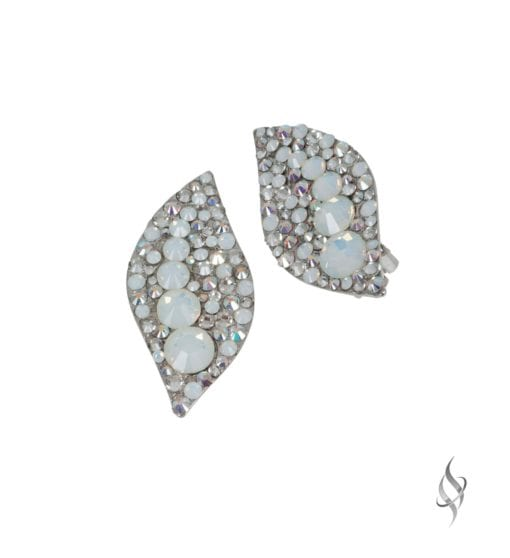 HALLE Arctic Crystal Clip Earrings from Stefanie Somers