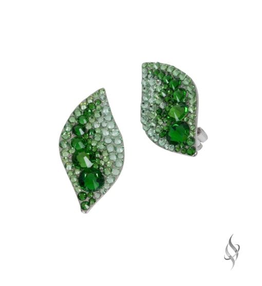 HALLE Lush Crystal Clip Earrings from Stefanie Somers