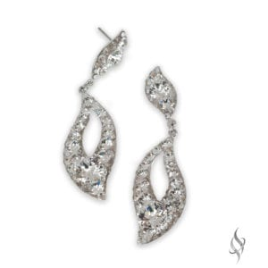 IMANI Crystal Cluster Drop Hoop Earrings from Stefanie Somers