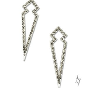 LUXOR Swarovski Gold Crystal Angular Earrings from Stefanie Somers