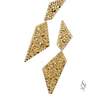 SPLINTER Gold Swarovski® Crystal Geometric Drop Earrings from Stefanie Somers®