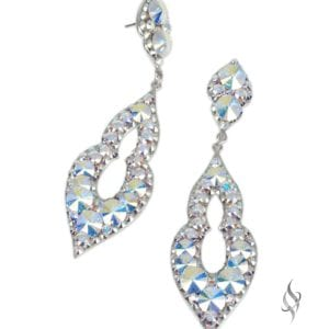 CHARLISSE Curvy crystal earrings in Crystal AB from Stefanie Somers