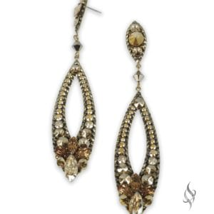 Megan Chunky crystal cluster earrings in Sunshine from Stefanie Somers
