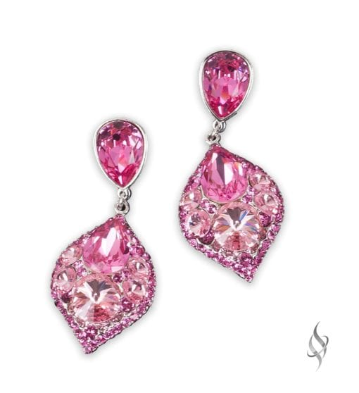 MINSK Small crystal cluster drop earrings in Bloom from Stefanie Somers