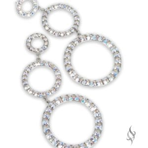 Moulin Crystal stacked hoop earrings in Crystal AB from Stefanie Somers