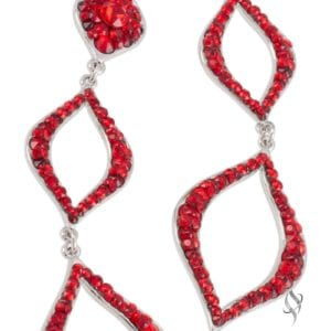 PARAPET Red Crystal Drop Earrings from Stefanie Somers®