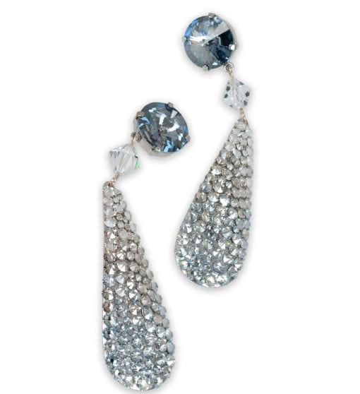 Ripley Crystal pavé paddle drop earrings in Ombre Cloud from Stefanie Somers