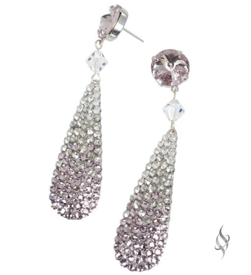 Ripley Crystal pavé paddle drop earrings in Ombre Perwinkle from Stefanie Somers