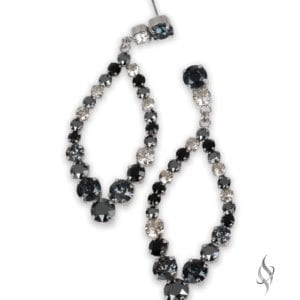 ADELE Runway Crystal Hoop in Black Ombre from Stefanie Somers