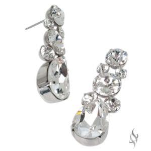 DAPHNE Elegant Crystal Bridal Earrings In Crystal from Stefanie Somers