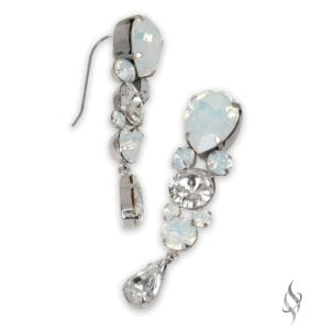 DHARMA Elegant Crystal Bridal Drop Earrings in Arctic from Stefanie Somers