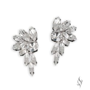 DIXIE Spiky Crystal Bridal Earrings from Stefanie Somers