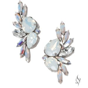 KAELIN Elegant Crystal Cluster Earrings in Arctic from Stefanie Somers