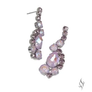 MARIA Elegant Crystal Cluster Drop Earrings in Lavender from Stefanie Somers