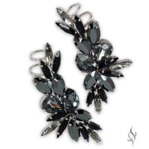 MELISSA Statement Crystal Ear Crawlers in Ink from Stefanie Somers