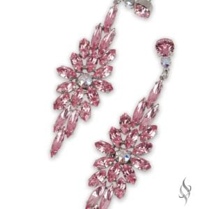 TIFFANY Regal Crystal Floral Earring in Lt Rose from Stefanie Somers